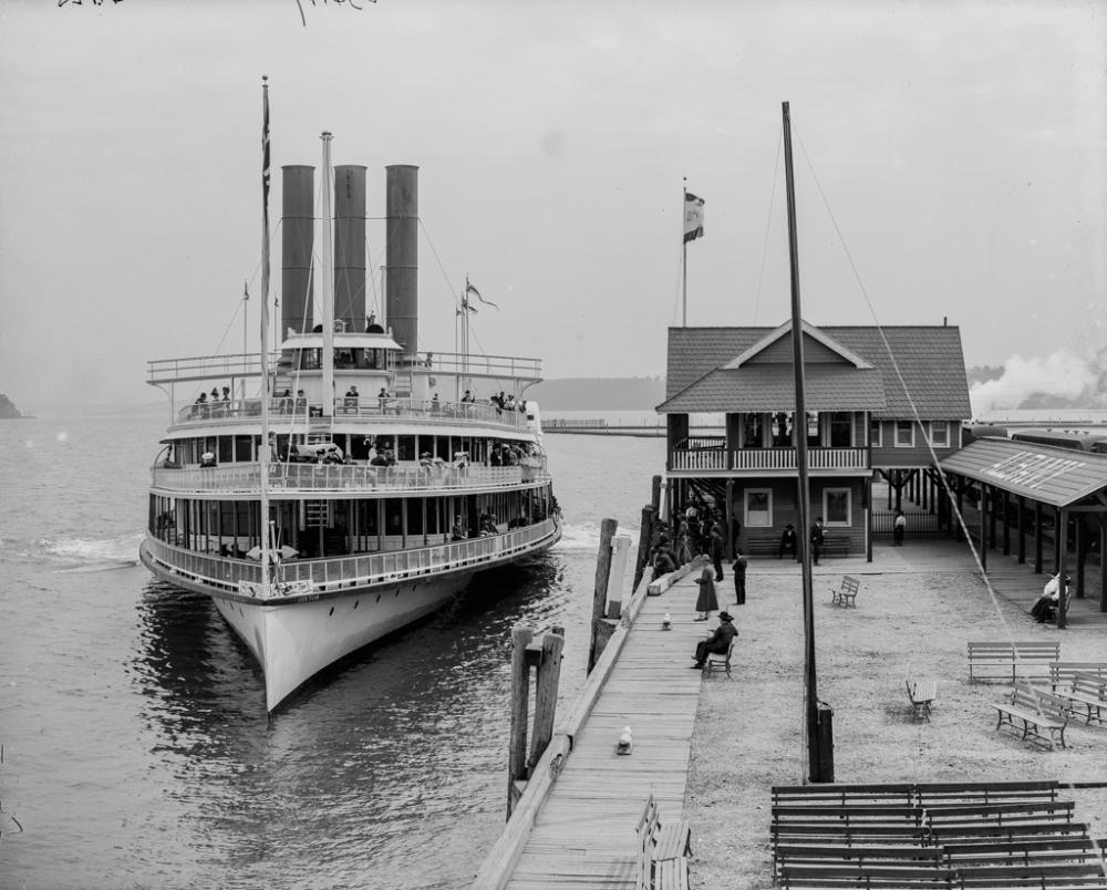 Boat landing, Kingston Point, N.Y
