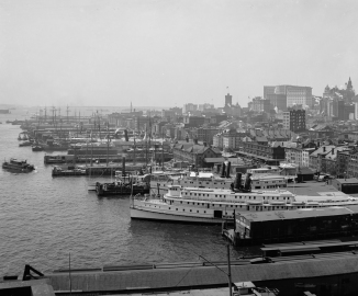 River front from the Brooklyn Bridge, New York, N.Y