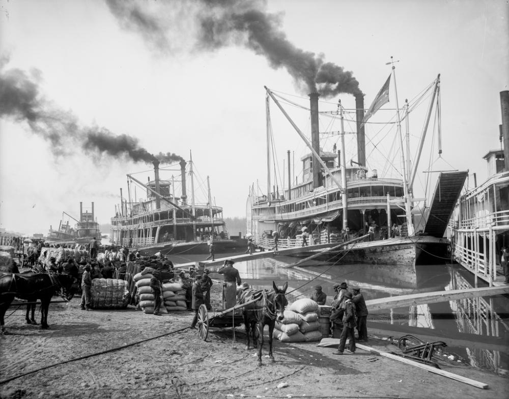 Steamboat landing, Vicksburg, Miss