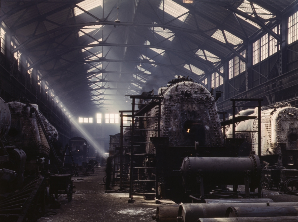 Santa Fe R.R. locomotive shops, Topeka, Kansas