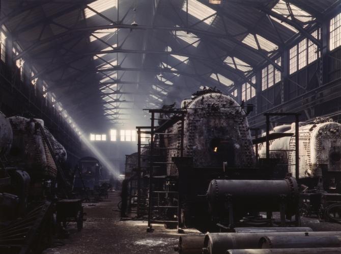 Santa Fe R.R. locomotive shops, Topeka, Kansas