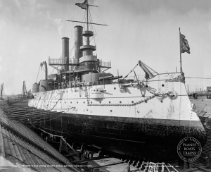 USS Iowa in dry dock, Brooklyn Navy Yard-Edit-Edit