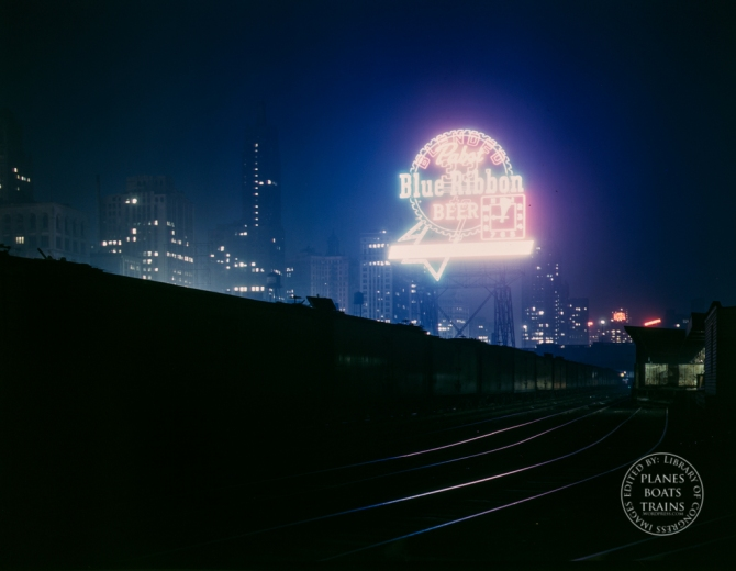 Illinois Central R.R., freight cars in South Water Street freight terminal, Chicago, Ill