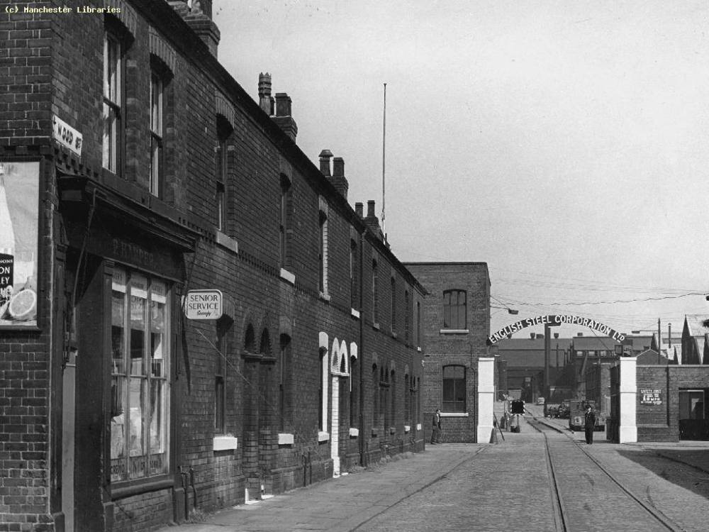 Wood St to North St and the gates of English Steel,1963.